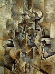 Georges Braque, 1910, Violin and Candlestick, oil on canvas, 60.96 cm x 50.17 cm, San Francisco Museum of Modern Art Wikipedia.org